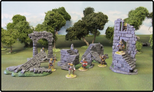 Ruined Battlements Set