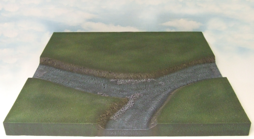 T-Junction River Section Terrain Tile