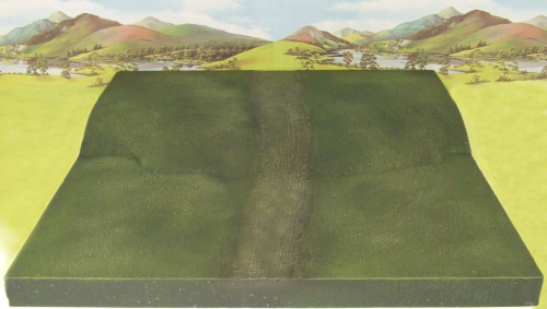 Central Section Hill Terrain Tile (with road)