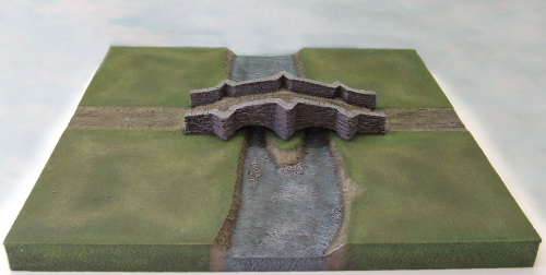 Bridge & Road River Section Terrain Tile