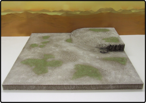 End Corner (with rocky outcrops) Desert Scrubland Terrain Tile