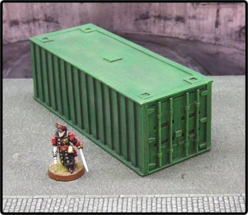 Large Green Cargo Container