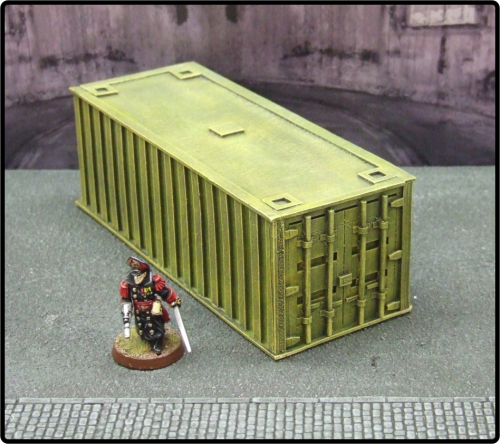 Large Yellow Cargo Container