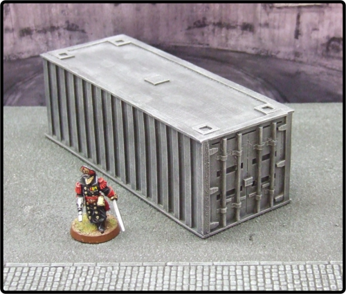 Large Grey Cargo Container