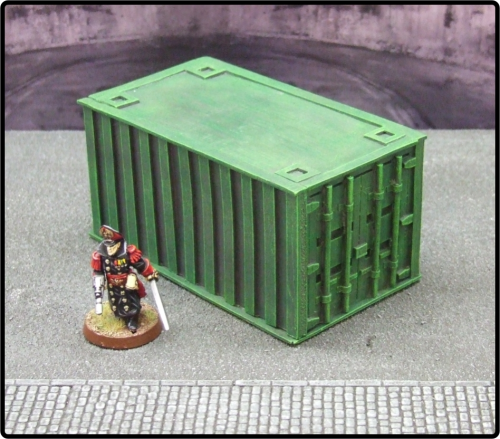Small Green Cargo Container