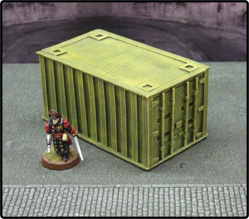 Small Yellow Cargo Container