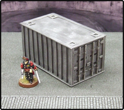 Small Grey Cargo Container