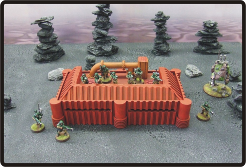 Tesla Barracks/Habitation Block (Red)