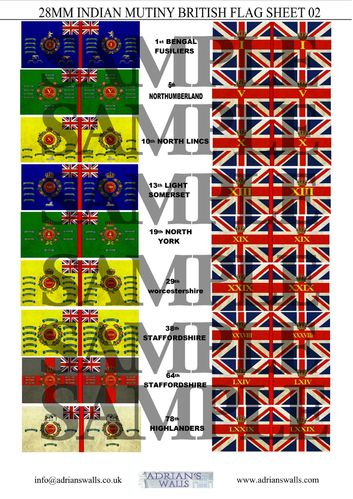 Indian Mutiny - British Flags 2