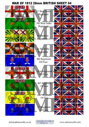 British Flag Sheet