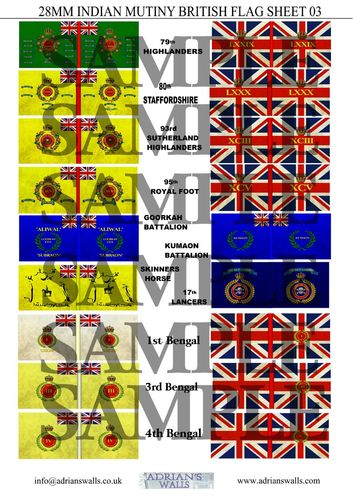 Indian Mutiny - British Flags 3