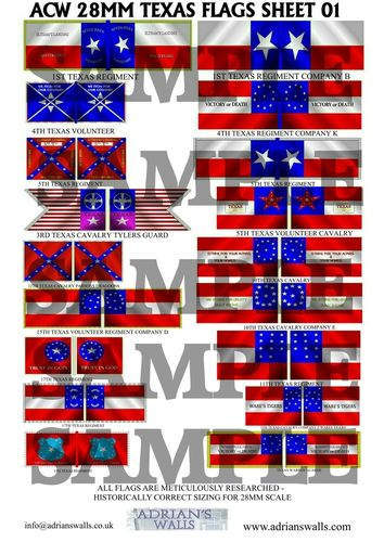Texas Flag Sheet 1