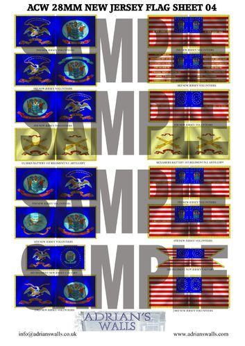 New Jersey Flag Sheet 4