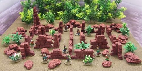 Ruined Walls and Rock Pack (Red)