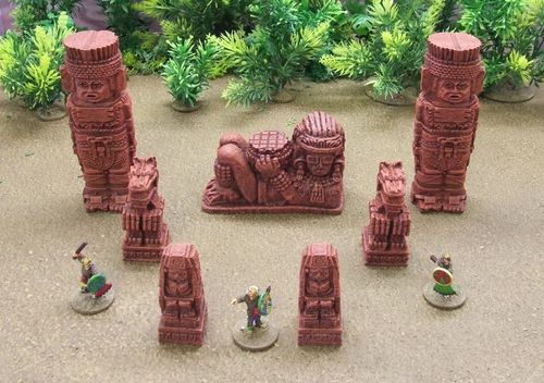 Totems, Idol and Statues Pack (Red)