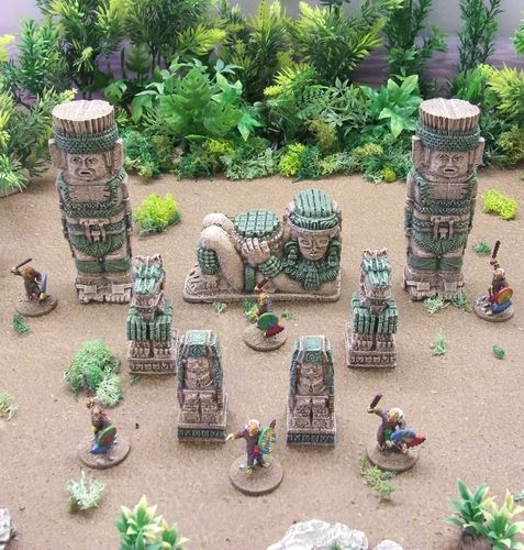 Totems, Idol and Statues Pack (Sandstone Green)