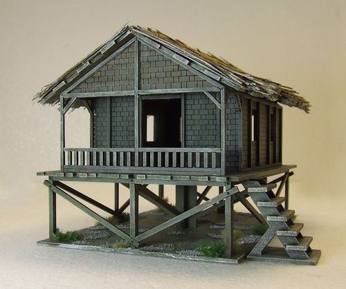 Tall Woven Planked Hut